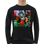 BUTTERFLY FLOWERS 1 Long Sleeve Dark T-Shirts Front