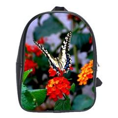 Butterfly Flowers 1 School Bags(large)  by trendistuff