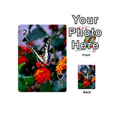 Butterfly Flowers 1 Playing Cards 54 (mini)  by trendistuff
