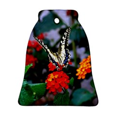 Butterfly Flowers 1 Bell Ornament (2 Sides) by trendistuff