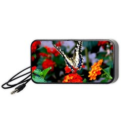 Butterfly Flowers 1 Portable Speaker (black)  by trendistuff