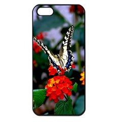 Butterfly Flowers 1 Apple Iphone 5 Seamless Case (black) by trendistuff