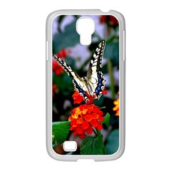 BUTTERFLY FLOWERS 1 Samsung GALAXY S4 I9500/ I9505 Case (White) by trendistuff