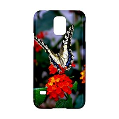 Butterfly Flowers 1 Samsung Galaxy S5 Hardshell Case  by trendistuff