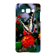 Butterfly Flowers 1 Samsung Galaxy A5 Hardshell Case  by trendistuff