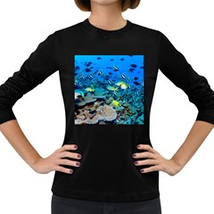 Fr Frigate Shoals Women s Long Sleeve Dark T Shirts by trendistuff