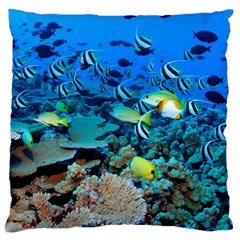 Fr Frigate Shoals Large Cushion Cases (one Side)  by trendistuff