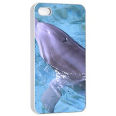 Dolphin 2 Apple Iphone 4/4s Seamless Case (white) by trendistuff