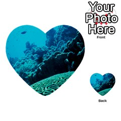 Coral Reefs 2 Multi Purpose Cards (heart)  by trendistuff
