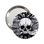 Skull & Books 2.25  Handbag Mirrors