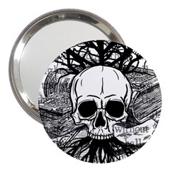 Skull & Books 3  Handbag Mirrors