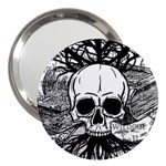 Skull & Books 3  Handbag Mirrors Front