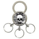 Skull & Books 3-Ring Key Chains