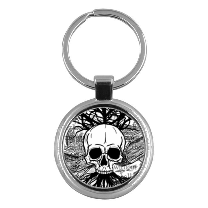 Skull & Books Key Chains (Round)
