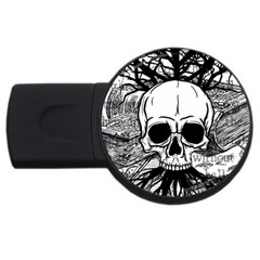Skull & Books Usb Flash Drive Round (4 Gb)
