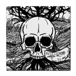 Skull & Books Tile Coasters