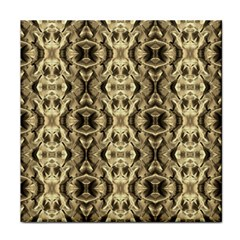Gold Fabric Pattern Design Tile Coasters