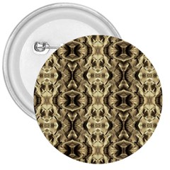 Gold Fabric Pattern Design 3  Buttons
