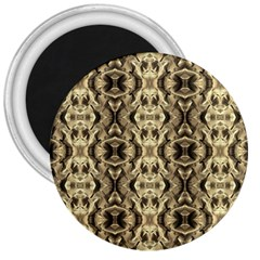 Gold Fabric Pattern Design 3  Magnets