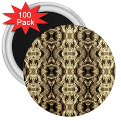 Gold Fabric Pattern Design 3  Magnets (100 pack) by Costasonlineshop