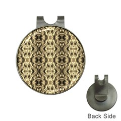 Gold Fabric Pattern Design Hat Clips With Golf Markers