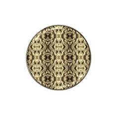 Gold Fabric Pattern Design Hat Clip Ball Marker (10 Pack)
