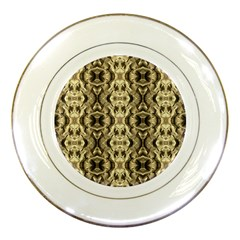 Gold Fabric Pattern Design Porcelain Plates by Costasonlineshop
