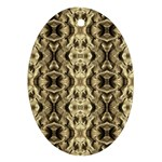 Gold Fabric Pattern Design Oval Ornament (Two Sides) Back
