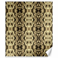 Gold Fabric Pattern Design Canvas 8  X 10  by Costasonlineshop