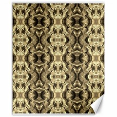 Gold Fabric Pattern Design Canvas 16  X 20   by Costasonlineshop