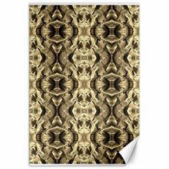 Gold Fabric Pattern Design Canvas 20  X 30   by Costasonlineshop