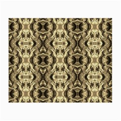 Gold Fabric Pattern Design Small Glasses Cloth (2 Side) by Costasonlineshop