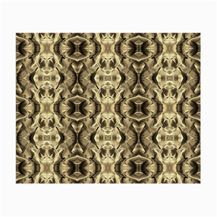 Gold Fabric Pattern Design Small Glasses Cloth (2-Side)