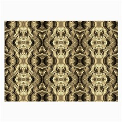 Gold Fabric Pattern Design Large Glasses Cloth (2 Side) by Costasonlineshop