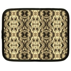 Gold Fabric Pattern Design Netbook Case (xl)