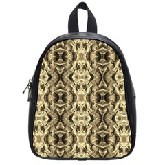 Gold Fabric Pattern Design School Bags (small)  by Costasonlineshop