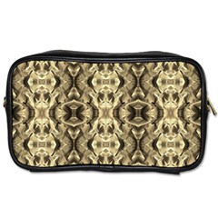 Gold Fabric Pattern Design Toiletries Bags 2 Side by Costasonlineshop