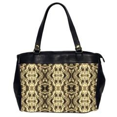 Gold Fabric Pattern Design Office Handbags (2 Sides)