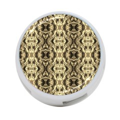Gold Fabric Pattern Design 4 Port Usb Hub (one Side) by Costasonlineshop