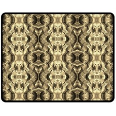 Gold Fabric Pattern Design Fleece Blanket (medium)  by Costasonlineshop