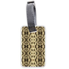 Gold Fabric Pattern Design Luggage Tags (one Side)  by Costasonlineshop