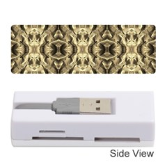 Gold Fabric Pattern Design Memory Card Reader (stick)  by Costasonlineshop