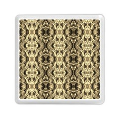 Gold Fabric Pattern Design Memory Card Reader (square)