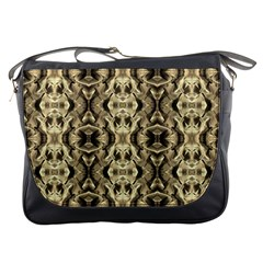 Gold Fabric Pattern Design Messenger Bags by Costasonlineshop