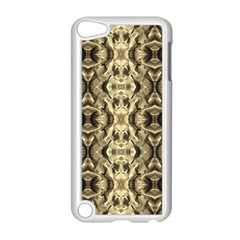 Gold Fabric Pattern Design Apple Ipod Touch 5 Case (white)