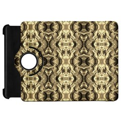 Gold Fabric Pattern Design Kindle Fire Hd Flip 360 Case