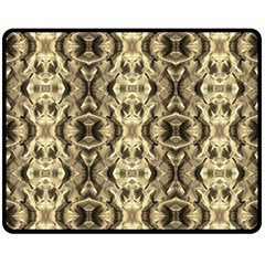 Gold Fabric Pattern Design Double Sided Fleece Blanket (medium)