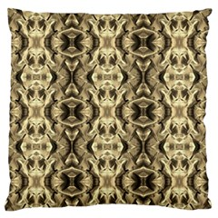Gold Fabric Pattern Design Large Flano Cushion Cases (one Side)