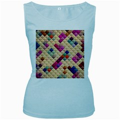 Mosaic & Co 01a  Women s Baby Blue Tank Tops by MoreColorsinLife