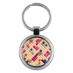 Mosaic & Co 01a  Key Chains (round)  by MoreColorsinLife